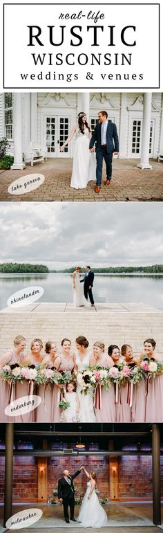This is such an awesome collection of real Wisconsin weddings at rustic venues! So may gorgeous wedding venues in Milwaukee with urban, industrial style. I also love the updated barn venues with rustic country chic, and some awesome resorts for a stay-cation wedding. This is the best list of places to get married in Wisconsin, especially if you love rustic design.