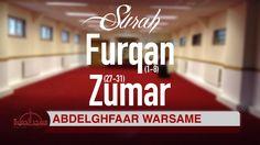 Awesome recitation Surah al-Furqan & az-Zumar Quran, Maid, Verses, Islam, Reading, Scriptures, Maids, Lyrics, Holy Quran