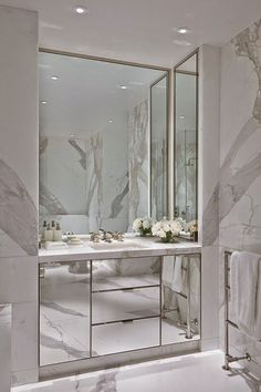 The Pink Pagoda: Mirrors + Marble and New at TPP TOTALLY LOVING THIS GLORIOUS 'LOOK' WITH MIRRORS & MARBLE, LOOKS SO VERY LUXURIOUS! ♠️