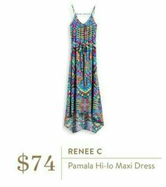 Love the color/print combo. Not sure the style would work for me. [Renee C Pamela Hi-Lo Maxi Dress] Stitch Fix App, Pamela, Stitch Fix Stylist, Passion For Fashion, What To Wear, Stylists, Dress Up, Cute Outfits, Style Inspiration