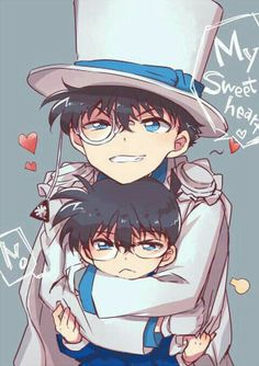 Kaito and conan Magic Kaito, Anime Chibi, Manga Anime, Conan Comics, Detektif Conan, Sherlock Holmes, Detective Conan Shinichi, Kaito Kuroba, Anime Triste