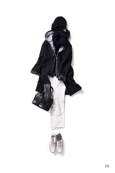 Kyoko Kikuchi's Closet #kk-close ウールのコートを スポーティーにイメージチェンジ!