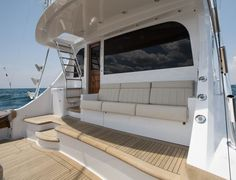 The Hatteras is a workhorse for the angler who demands more from a premium sportfishing convertible yacht. Hatteras Yachts, Yacht Design, Motor Yacht, Sport Fishing, Palm Beach, Convertible, Building, Interior, Boats