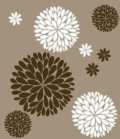 Flower Wall Decals Another Bunch of Dahlia by LuluGirlDesigns