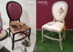 Restauración de silla isabelina en colaboración con Fernanda Staude