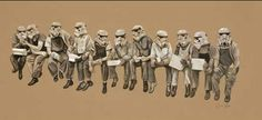 Art By James Hance - Lunch Atop The Half Constructed Death Star (Print) Star Wars Luke Skywalker, Death Star, Geek Art, Buy Prints, Star Print, S Star, The Ordinary, Cartoon, Drawings
