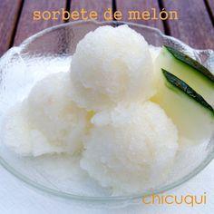 Sorbete de melón: natural y muy refrescante!!! La receta en chicuqui.com