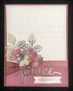 Stampin' in the Sand: Card: Sweet Sugar Plum & Fancy Frost For Christmas; Holly Jolly Greetings stamp set; Christmas Greetings and Flourish Thinlits