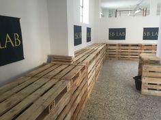 Arredamento bancali nuovo laboratorio Legnano