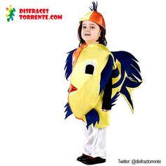 $13.95 Euros. Disfraz de Pez o Peces para niños-niñas. Al divertido disfraz de pescado, ideal para festivales de colegio y fiestas de  carnaval infantiles. Muy cómodo de llevar, gran calidad y precio muy económico. Disponible en varias tallas