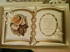 By Sandma. Bookatrix 50th Card Book, Up Book, Fancy Fold Cards, Folded Cards, Wedding Anniversary Cards, Wedding Cards, Scrapbooking, Scrapbook Cards, Crafters Companion Cards