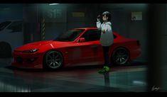 Arte 8 Bits, Character Art, Character Design, Jdm Wallpaper, Street Racing Cars, Anime Girl Hot, Character Wallpaper, Car Drawings, Female Anime
