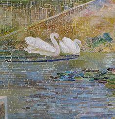 Garden Landscape and Fountain, ca. 1905–15 Louis Comfort Tiffany (American, 1848–1933); Tiffany Studios Favrile glass, cement