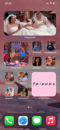FRIENDS TV Show Themed iPhone Background / Home Screen iOS 14 update
