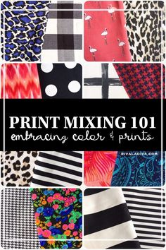Print Mixing 101 - Embracing Color and Prints - Riva la Diva Pattern Mixing Outfits, Mixing Patterns, Fabric Patterns, Print Patterns, Pdf Patterns, Mixing Prints, Stitch Design, Pattern Fashion, Sewing Projects