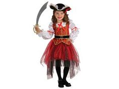 Girls Princess Of The Seas Pirate Kids Halloween Costume