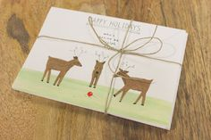 4 Assorted Holiday Postcards by MZillustrations on Etsy
