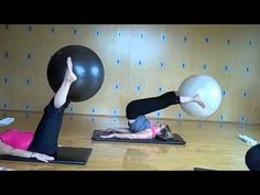 i like this teacher's style    Pilates Ball Series