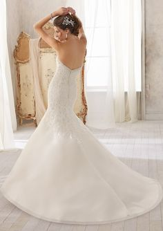 Bridal Dress From Blu By Mori Lee Style 5211 Delicate Chantilly Lace Combined with Venice Lace on Net
