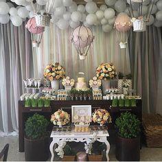 """1,230 Likes, 40 Comments - Decor&Festa - Mari Mangione (@decorefesta) on Instagram: """"Chá de bebê fofura que achei no @encontrandoideias  Adorei esses balões  por @missfesta …"""""""