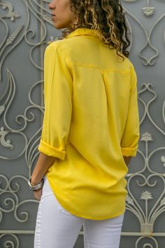 Women Elegant Long Sleeve Solid V-Neck Chiffon Tops Blouse Plus Size Outfits Damen, Casual Skirt Outfits, Cute Outfits, Plus Size Blouses, Shirt Blouses, Chiffon Tops, Blouses For Women, Work Wear, Fashion Outfits