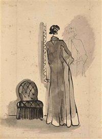 Femme au miroir par Christian Bérard
