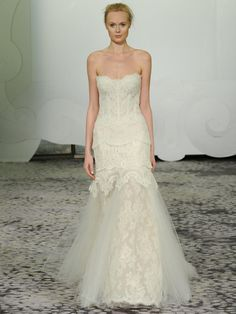Rivini translucent five lace wedding dress from Spring 2016