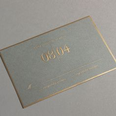 Vera Wang Engraved Gold Bordered Light Grey Wedding Invitation - design nice, over gold though
