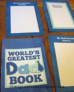 FREE Printable World's Greatest Dad Book