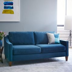 Paidge Sofa | west elm blue brown and beige only $1000 for 71 inch