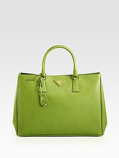 Prada Saffiano Lux Tote Bag (love the green, but i want in black)