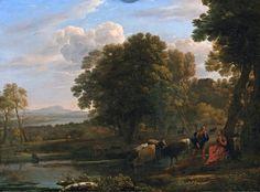 The Athenaeum - An Evening Landscape with Mercury and Battus (Claude Lorrain - )