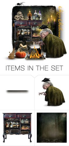 """""""Happy Halloween!"""" by collagette ❤ liked on Polyvore featuring art"""
