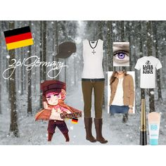 hetalia: 2p Germany Inspired by sweetly-evil on Polyvore
