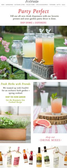 Party perfect drinks and dispensers for summer #entertaining.