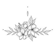 White background Tattoo for man and woman - Flower Tattoo Designs Mini Tattoos, Body Art Tattoos, Small Tattoos, Cool Tattoos, Tatoos, Small Flower Tattoos, Flower Tattoo Designs, Piercing Tattoo, Arm Tattoo