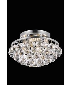 Elegant Lighting 9805F14 Corona 14 Inch Semi Flush Mount