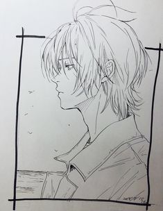 Twitter Guy Drawing, Manga Drawing, Drawing Reference, Drawing Sketches, Art Drawings, Anime Character Drawing, Anime Sketch, Manga Boy, Anime Guys
