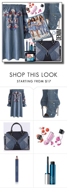 """all denim head to toe"" by teto000 ❤ liked on Polyvore featuring Chicwish, Dsquared2, Diesel, Estée Lauder, Clinique, Christian Dior and alldenim"