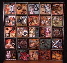 Finished Steampunk Advent Calendar by amaryllisroze, via Flickr