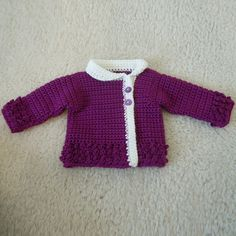 Crochet Guide: Victorian Rose Baby Sweater