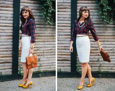 3 Tips for Wearing Plaid - Photo by: Bethany Michaela Photography For Dean Street Society http://www.womenshealthmag.com/style/plaid-shirts