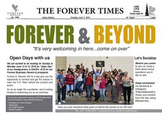 """FOREVER & BEYOND  Open Days with us We are excited to be hosting on Sunday & Monday June 12 & 13, 2016 an """"Open Day"""" at our headquarters, in DAFZA - B 23 for our Forever Business Owners & prospects."""