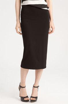 Vince Camuto Midi Tube Skirt available at Nordstrom size L in black AND cobalt!!