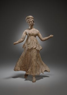 Statuette of the Goddess Nike - 2nd century B.C. Terracotta. Culture: Greek, Asia Minor, Myrina. Period: Hellenistic. | Copyright © 2015 The Yale University Art Gallery