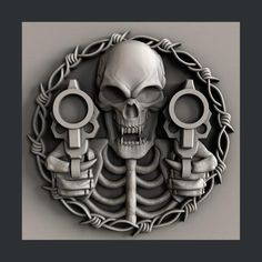 Your place to buy and sell all things handmade Evil Skull Tattoo, Skull Tattoos, Head Tattoos, Image Bitmap, Sculpture Art, Sculptures, Skull Sketch, Router Projects, Stl File Format