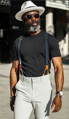 How to wear suspenders, stylish men, men casual, fashion hats, fashion outf Mode Masculine, How To Wear Suspenders, Men In Suspenders, Suspenders Fashion, Stylish Men, Men Casual, Smart Casual, Fashion Business, Office Fashion