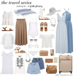 How to pack for a trip or holiday to Greece <3 www.flipandstyle.com
