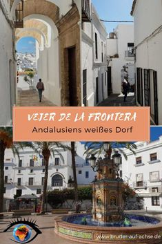 It is not one of the famous white villages, but it is one of the most beautiful villages in Andalusia: Vejer de la Frontera near the Costa de la Luz, where you can see the influence of the Atlantic. Places To See, Portugal, Most Beautiful, Hawaii, Canning, City, Trips, Summer, Highlights