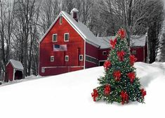 Don't you just love red barns??? Bebe'CTBelle!!! Merry Christmas!!!